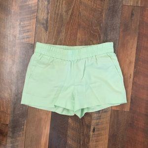 Pastel green size 2 J.Crew Linen shorts